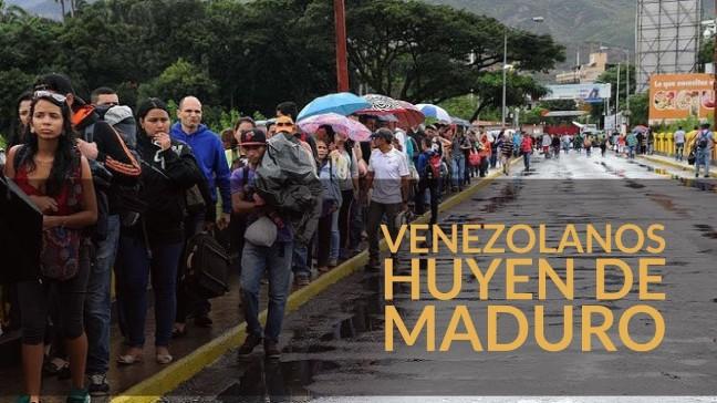 venezolanos huyen de maduro